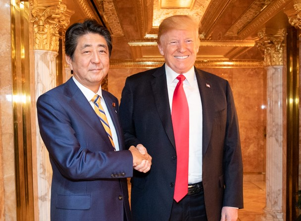 President Donald J. Trump and Japanese Prime Minister Abe Shinzo