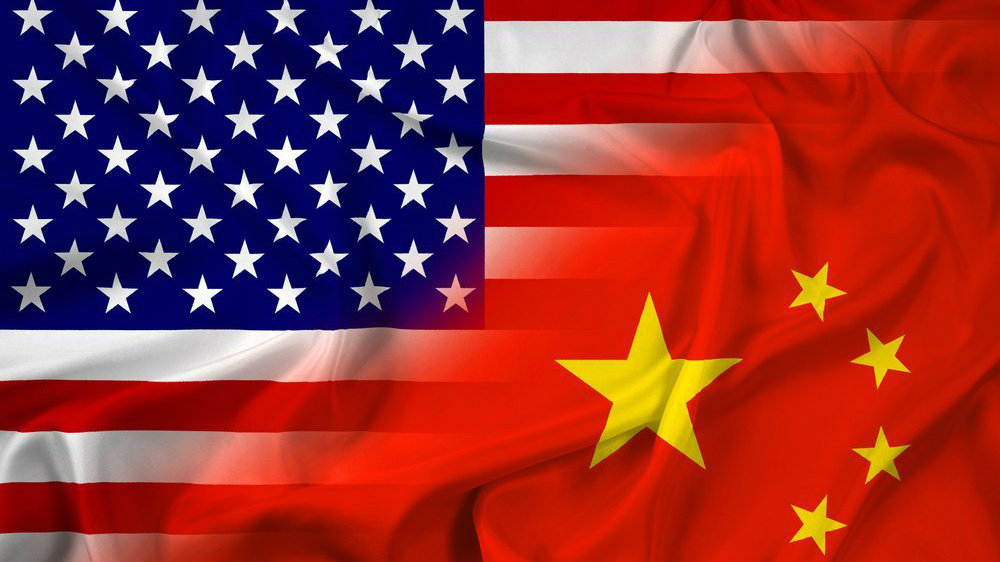 USA and China Flag