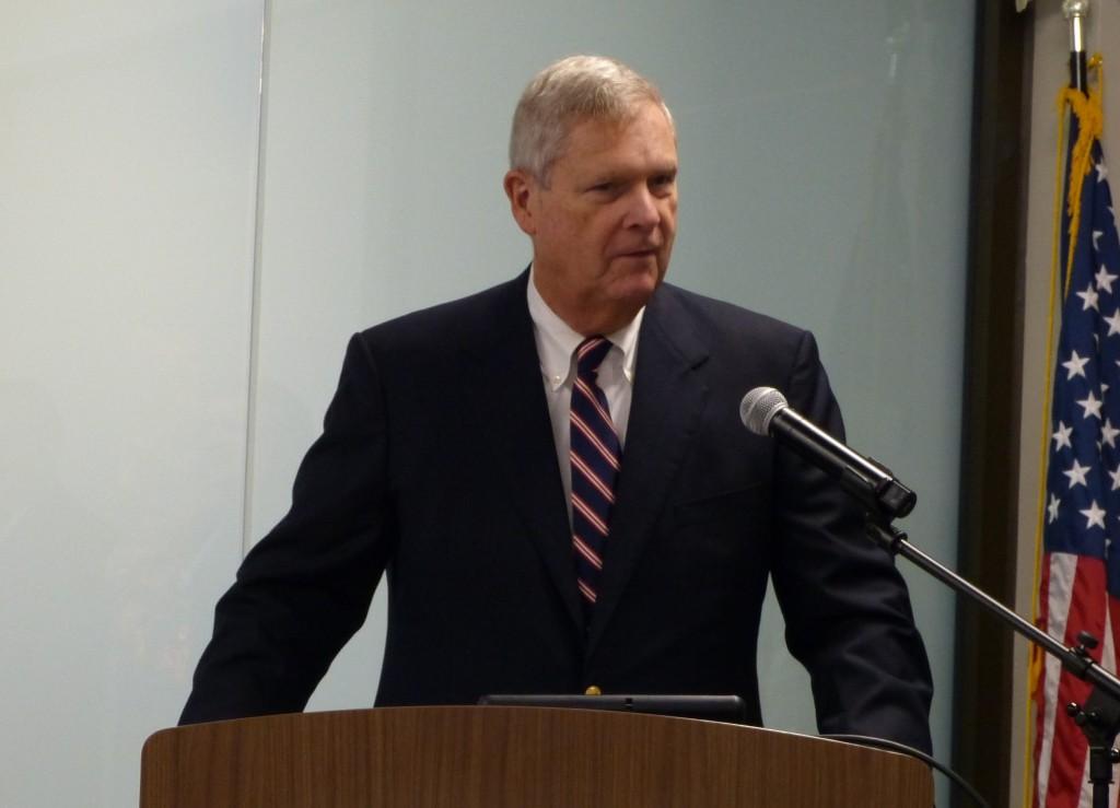 Former USDA Sec. Tom Vilsack speaks at Michigan Farm Bureau   Credit: Ashley Davenport