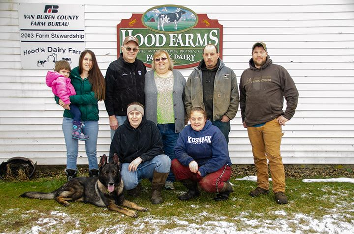 Hood family: Back row (L-R): Tegan Spicher, Tammy Spicher, Tim Hood, Debbie Hood, Charlie Hood and Ty Spicher. Front row (L-R): Britney Hood and Jennifer Buskirk. And Izzo the dog. Photo courtesy of MMPA