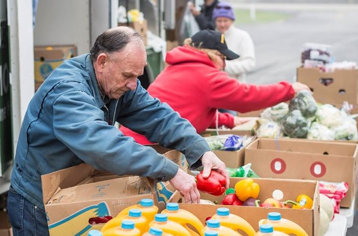 Mobile food pantries are an integral part Feeding America West Michigan's effort to provide food to over 284,000 people classified as food insecure in their 40-county service area along the west side of the lower peninsula and across the upper peninsula. (Courtesy, Feeding America West Michigan)