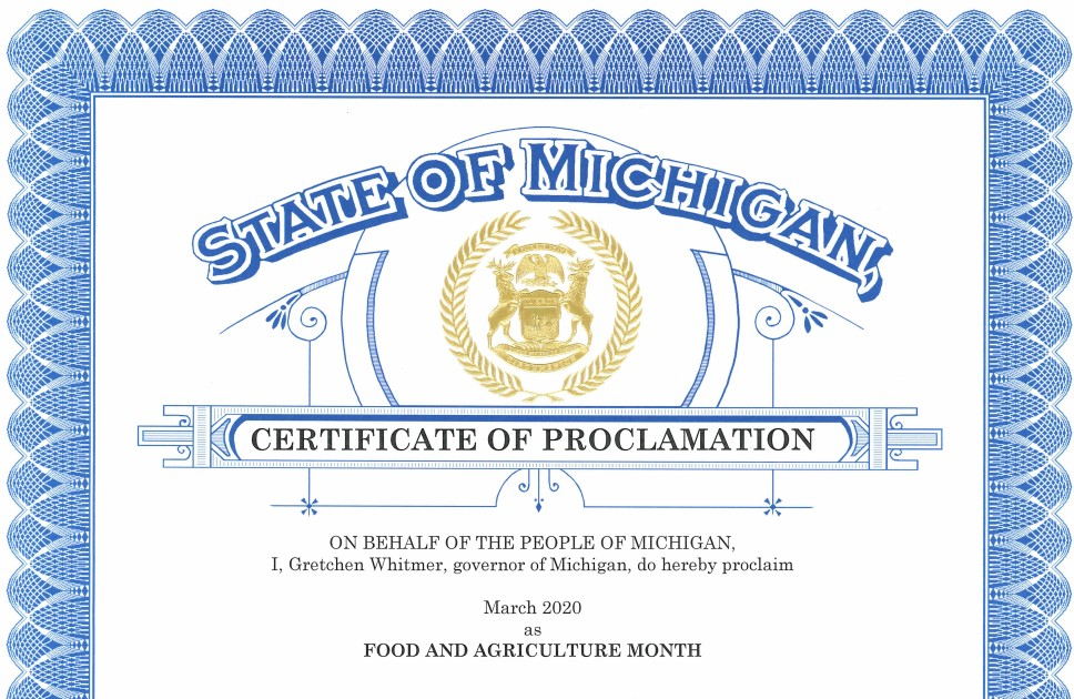 March 2020 Food and Agriculture Month