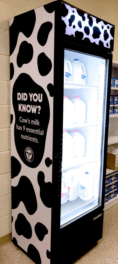 Milk cooler donated by the United Dairy Industry of Michigan. Photo: UDIM
