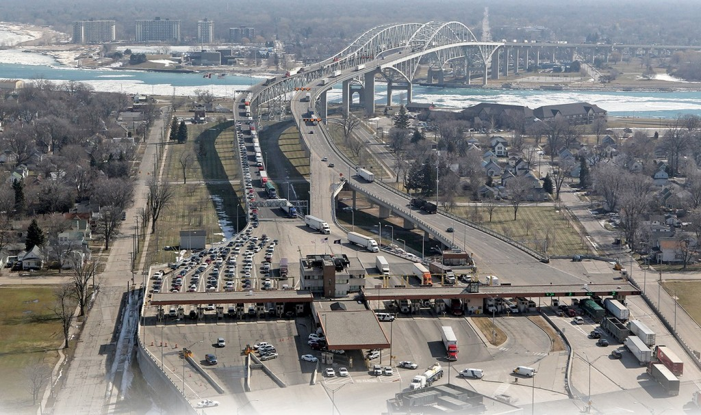 U.S.-Canadian border crossings, such as the Bluewater Bridge between Port Huron, Mich., and Sarnia, Ontario, could soon become even busier under expanded trade through USMCA. (Photo: U.S. Customs