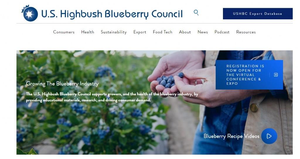 U.S. Highbush Blueberry Council website